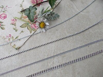 1 Metre Length Of Surgical Steel Jewellery Chain - Design-Curb,Cross,Ball,Twist