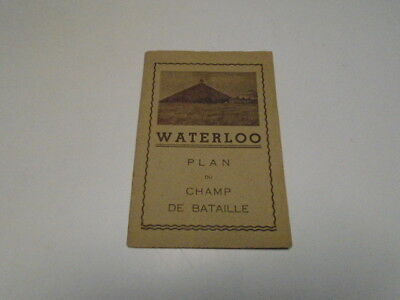 "Waterloo  "" Plan  Du  Champ De Bataille """