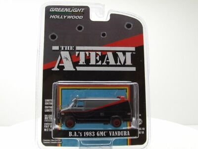 GMC Vandura A-Team Van 1983 TV-Serie grau/schwarz, Modellauto 1:64 / Greenlight