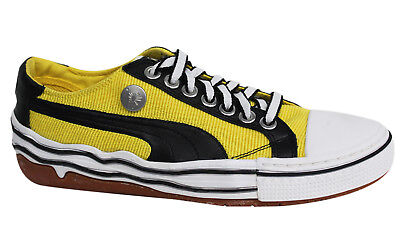 d5e7ccefcc82 Puma Mihara Yasuhiro My 41 Yellow Black Lace Up Mens Trainers 347808 04 U19