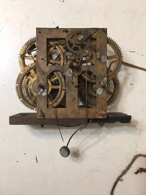 Antique Chauncey Jerome 30 Hour Ogee Clock Movement