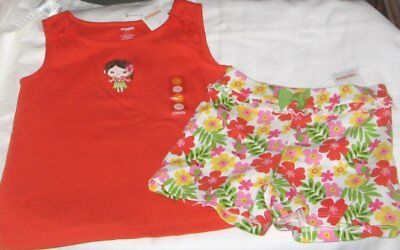 NWT Girls 4T GYMBOREE 2 Pc Outfit Shorts and Sleeveless Top NEW