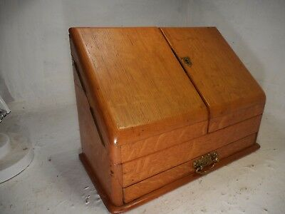 Antique Oak Stationery Cabinet , Writing Box  ref 4231