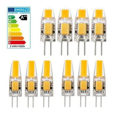 10X/1X G4 Replace Halogen 2W3W AC DC 12V LED COB Mini Bulb Light Lamp Warm White