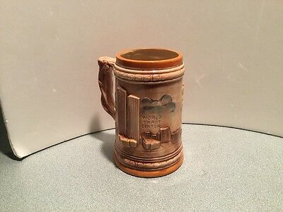 New York Coffee Mug NYC World Trade Center Statue Liberty Stein Tankard 1970's