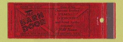 Matchbook Cover   The Barn Door San Antonio TX Full Length