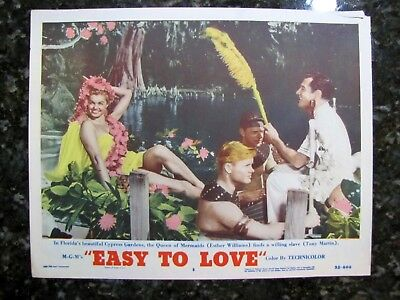 EASY TO LOVE Esther Williams & Willing Slave Tony Martin 1953 LOBBY CARD POSTER