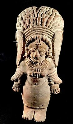 "Authentic Pre Columbian 6"" Clay Art Figure From Equator"
