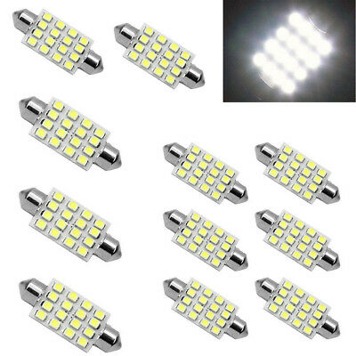 3PCS white 42mm 16SMD Car LED Festoon Dome Map Interior Cargo Light Bulbs 578 ID