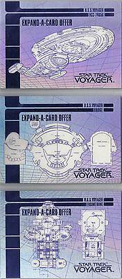 Star Trek Voyager Season 1 Set di 3 expand-a-cards