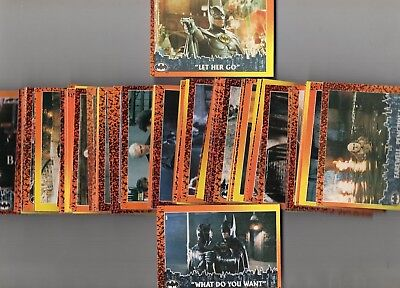 Batman Returns    Full Set of Trading Cards