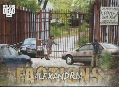 Walking Dead Road To Alexandria Factions Chase Card F-6 Alexandria
