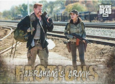 Walking Dead Road To Alexandria Factions Chase Card F-4 Abraham's Army