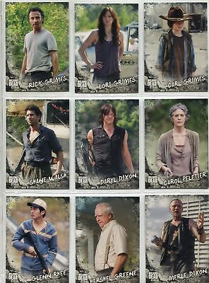 Walking Dead Road To Alexandria Complete Character Chase Card Set C1-20