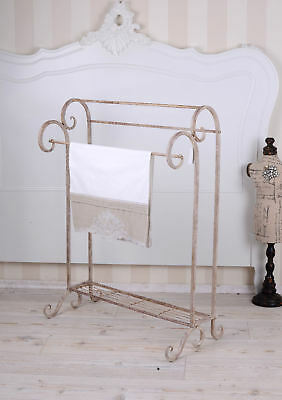 Towel rack towel holder shabby chic stand iron stand towel rail vintage style
