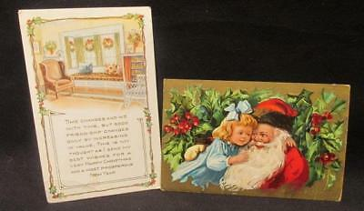 Whitney Made Christmas & New Year 1919 & Merry Christmas 1909 Vintage Postcards