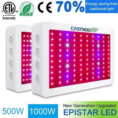 1000W 500W Watt LED Grow Light Lamp Plant Flower Oganic Growing Full Spectrum #M