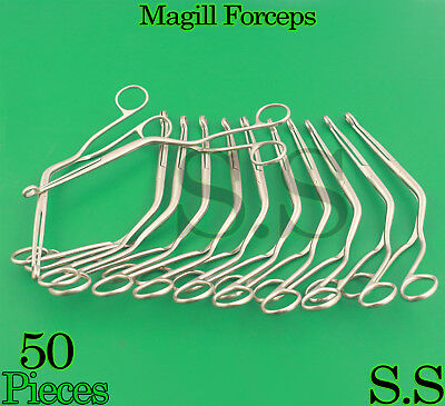 """50 Magill Forceps EMT Anesthesia Surgical Instruments 10"""""""