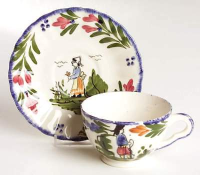 Blue Ridge Pottery FRENCH PEASANT Cup & Saucer A 6317745