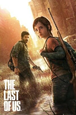 THE LAST OF US POSTER fea. Joel and Ellie PS4 GAMING POSTER (size 24x36)