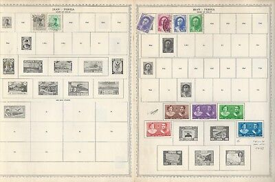 Middle East Stamp Collection 1894 to 1950 on 12 Minkus Global Pages