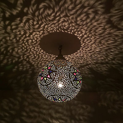 Oriental Hanging Light Moroccan Lamp Hanging Lamp Marakkesch Made of Brass