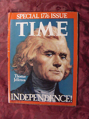 RARE TIME magazine SPECIAL July Jul 4 1776 1976 THOMAS JEFFERSON INDEPENDENCE