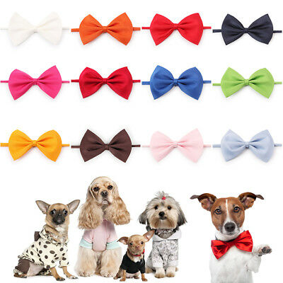 50 Pcs Wholesale Pet Dog Puppy Necktie Bow Tie Ties Collar Grooming out lot CN