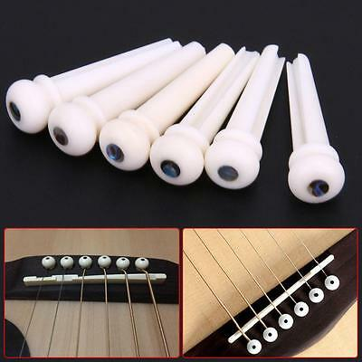 1 Set Bone Bridge Pins Nail Nut Saddle Part For Acoustic Guitar Universal GA