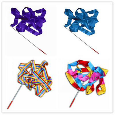 Cute 4M Rod Stick Dance Ribbon Gym Rhythmic Art Gymnastic Streamer Twirling