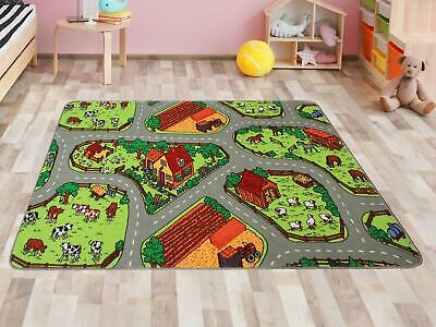 KIds Rug Playmat FARM Interactive Kids Carpet Road Map Rug - 2 sizes available