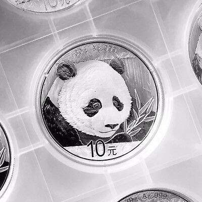 30 g gr China Panda 2018 - 999/1000 Silber 10 Yuan - in Originalkapsel
