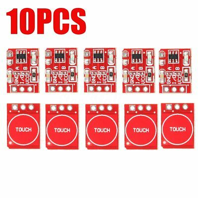 10PCS TTP223 Capacitive Touch Switch Button Self-Lock DIY Module For Arduino
