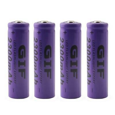 4pc 14500 3.7V 2300mAh Rechargeable Li-ion Battery for LED Flashlight Hot GA