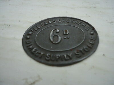 6d  Williams Brothers Token