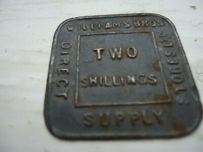 Two Shillings Williams Brothers Token