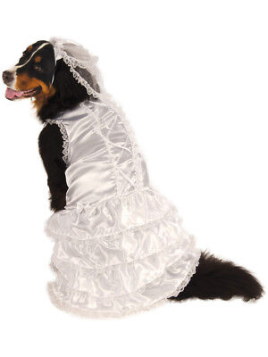 Big Dogs Married Marriage Wedding Bride Girl Dog Pet Costume Size XXXL 38""