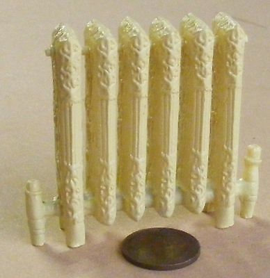 1:12 Scale Cream Colour Cast Iron Style Non Working Radiator Tumdee Dolls House