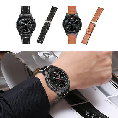 Quick Release Leather Watchband Wrist Strap For Samsung Gear S3 Classic/Frontier