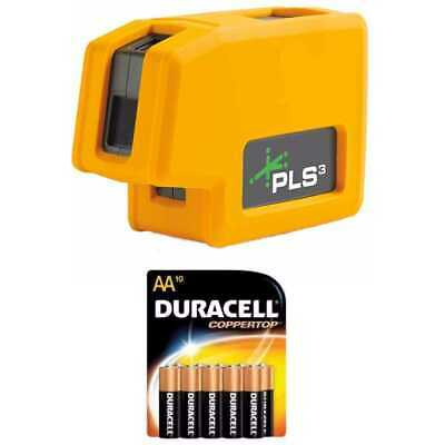 Pacific Laser Systems PLS 3 Green Tool with 10 Pack Duracell AA Batteries