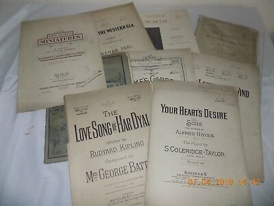 Collection Of Signed Sheet Music / Song Books (Victorian, Edwardian Era )