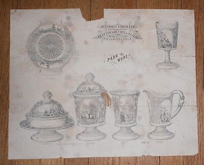 c1890 Antique Advertisement for Atherholt Fisher & Co Queensware Park Ware China