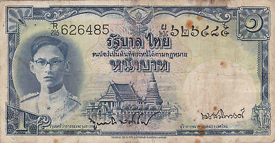 1 Baht Vg Banknote From Thailand 1948!pick-69