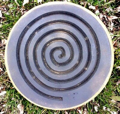 "Spiral meditation plaque mold plastic concrete plaster mould 11/"" x 3//4/"" thick"