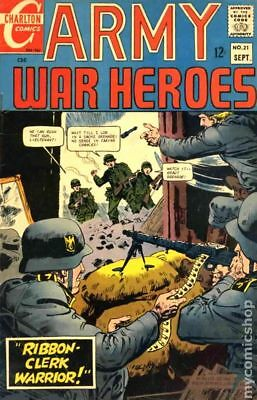 Army War Heroes #21 1967 FN- 5.5 Stock Image Low Grade