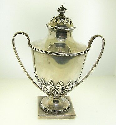 1798 Henry Nutting Sterling Silver Urn Form Sugar Bowl W/gilded Interior - Rare