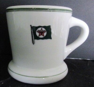 TEXACO Gasoline Oil Coffee or Shaving Mug Steamship Tanker By Mayer China 1930s