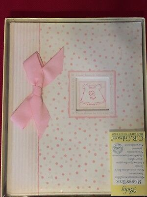 New Baby Girl Memory Book-Pink-CR Gibson Thanks heaven for little baby girl