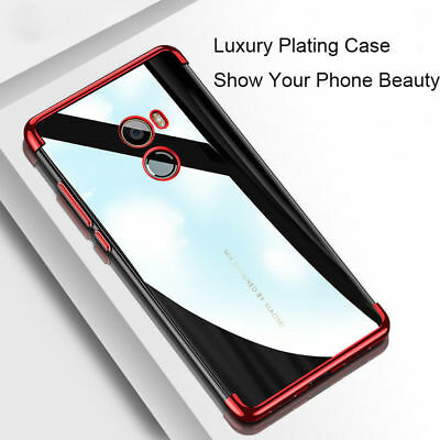 For Xiaomi Mi A1 Mix2 Redmi Note 4 5A Electroplated Clear TPU Protect Case Cover