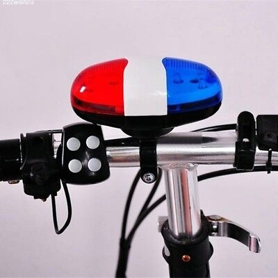 Hot 6 LED 4 Sounds Horn Bell Ring Police Car Light Trumpet For Bike Bicycle